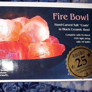 Hymalian crystal salt fire bowl